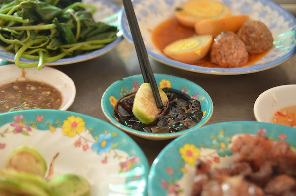 This fermented fish gut dip was part of our com binh danh feast in Quy Nhon