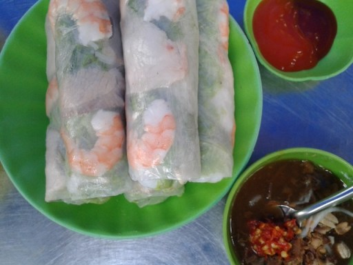 The Lunch Lady's fresh spring rolls
