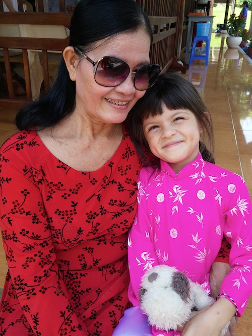 Miss M and Ba Noi (grandma)