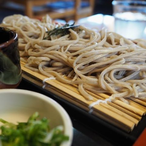 My first authentic Japanese soba noodles! At Waterwheel Park Cafehellip