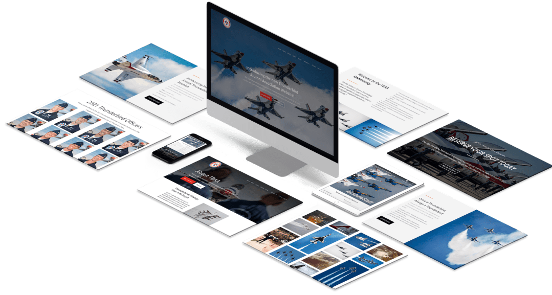 Thunderbird Alumni Association Website Design Feature by The Dropup Agency