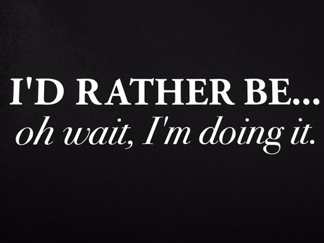 I'd Rather Be... Sticker