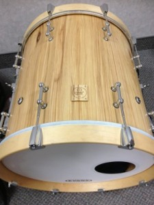 """007 - 18""""x18"""" Hickory Stave Bass Drum"""