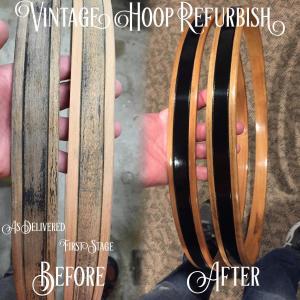Vintage Premier Bass Drum Hoops