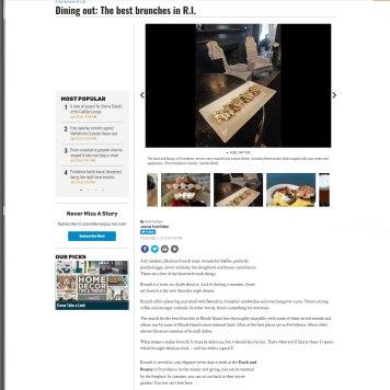 Providence Journal Best Brunches