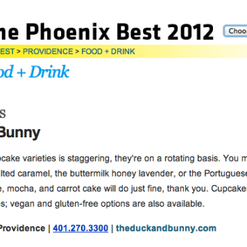 The Providence Phoenix Best Cupcakes 2012