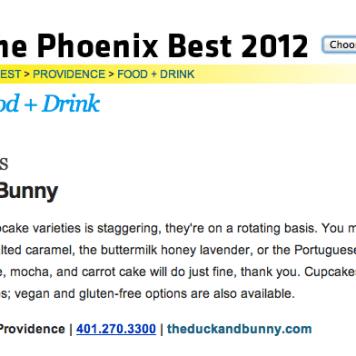 The Providence Phoenix Best Cupcakes 2012