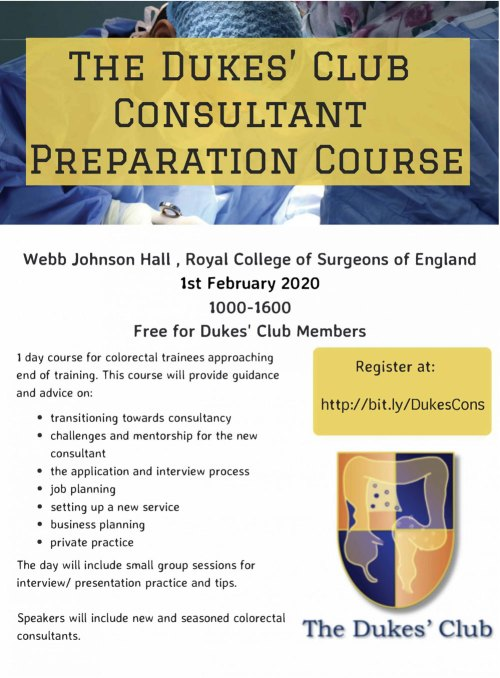 The Dukes' Club Consultant Course poster