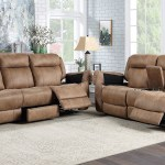 Saddle Reclining Sofa Set Brown The Dump Luxe Furniture Outlet