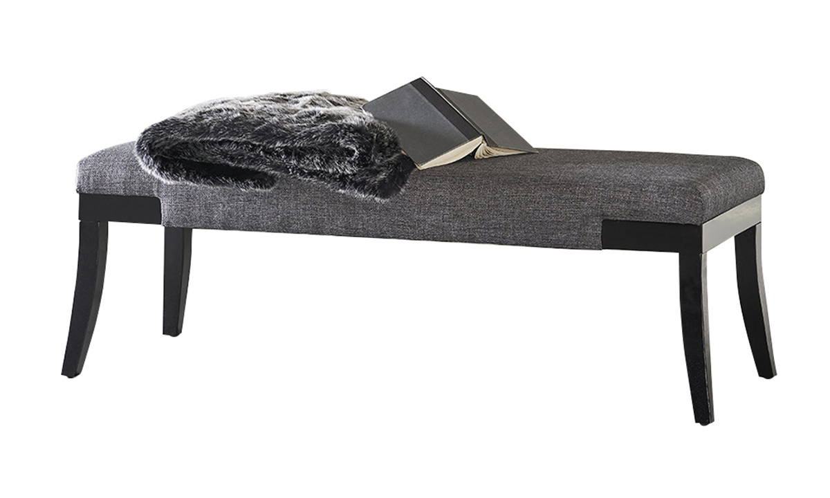 Storm Dark Grey Upholstered Bench The Dump Luxe Furniture Outlet