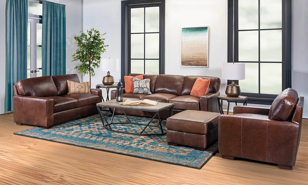 living room set rocky mountain leather primo native 4 piece set the dump luxe furniture outlet