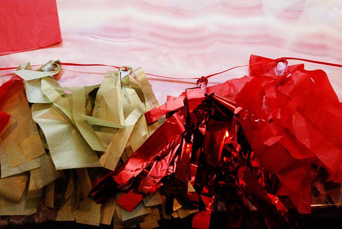 Tissue Paper Tassel Garland