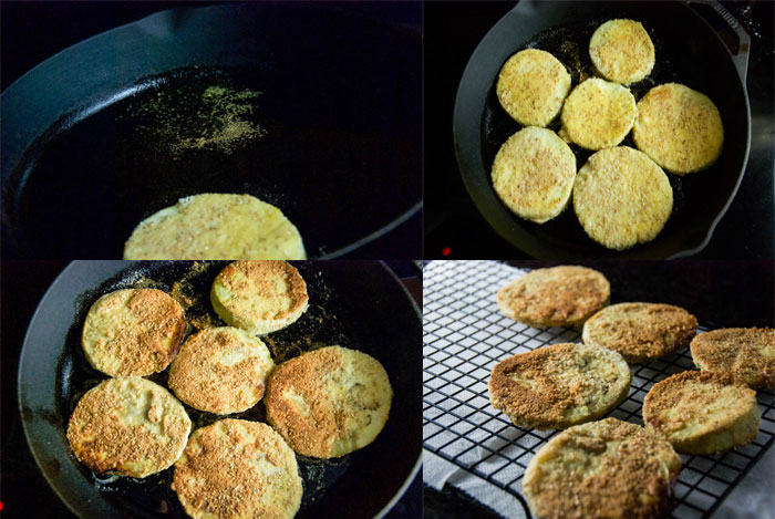 Pan Fried Eggplant Medallions