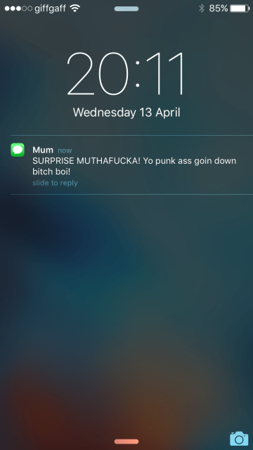 Mum checking in.
