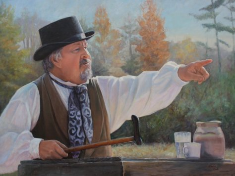 The Auctioneer (Courtesy of Dale Cook)