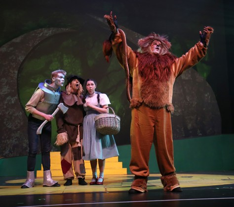The gang meets the Cowardly Lion played by Chad Humphries. (Kâté Braydon/The East)