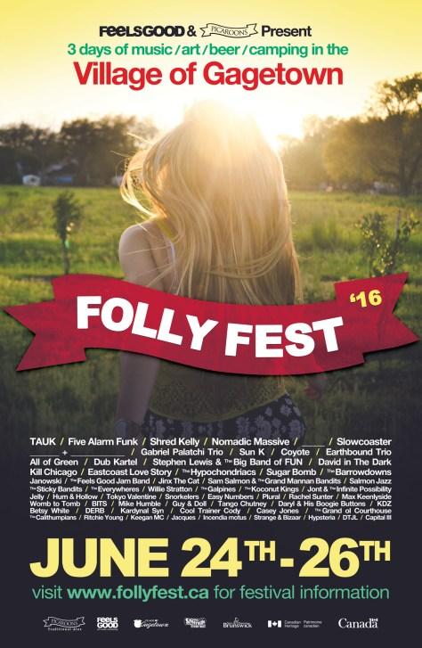 Folly Fest 2016 Poster
