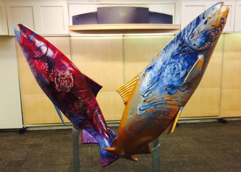 'Rose' and 'Gold Fish' by Deanna Musgrave