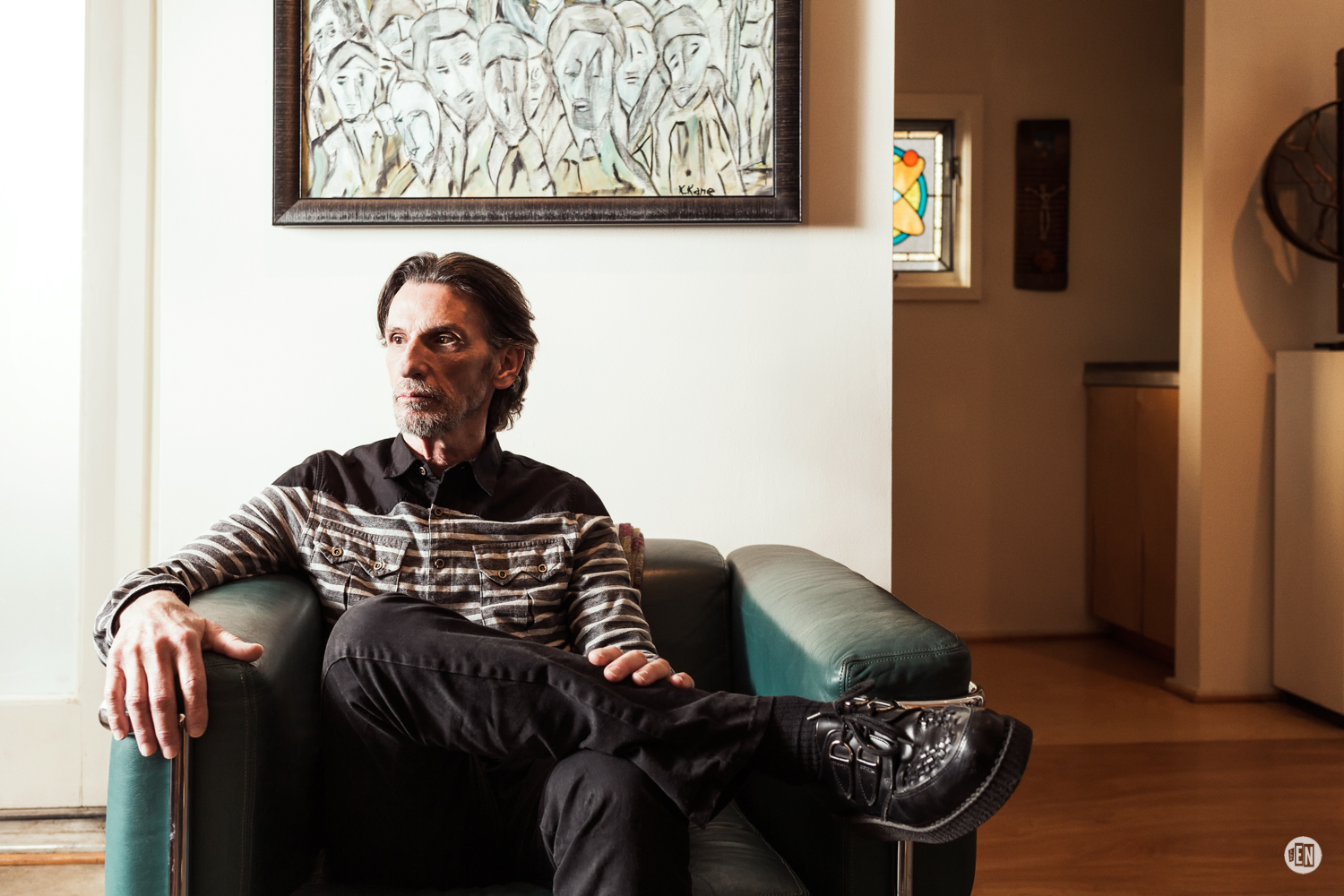 Artist/Producer Bill Brimm at his home in East Nashville. Photo by Travis Commeau