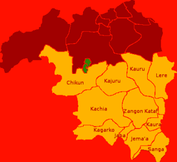 Southern Kaduna Map