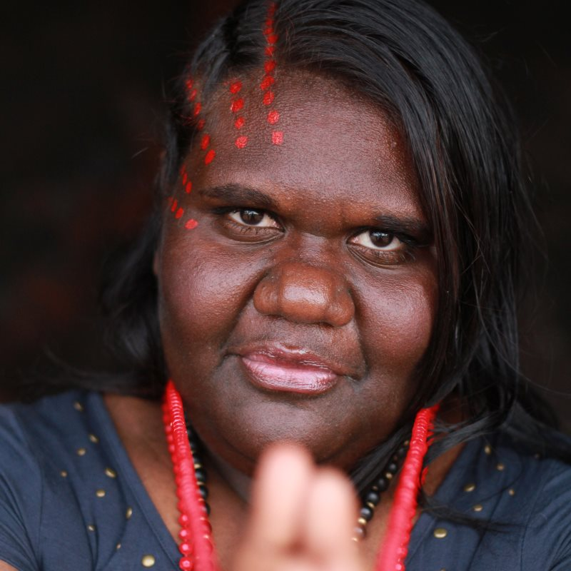 Muckaty Traditional Owner Kylie Sambo is an objector to what she considers radioactive blackmail: education in return for accepting nuclear waste. 'As Australians we should be already entitled to that.'