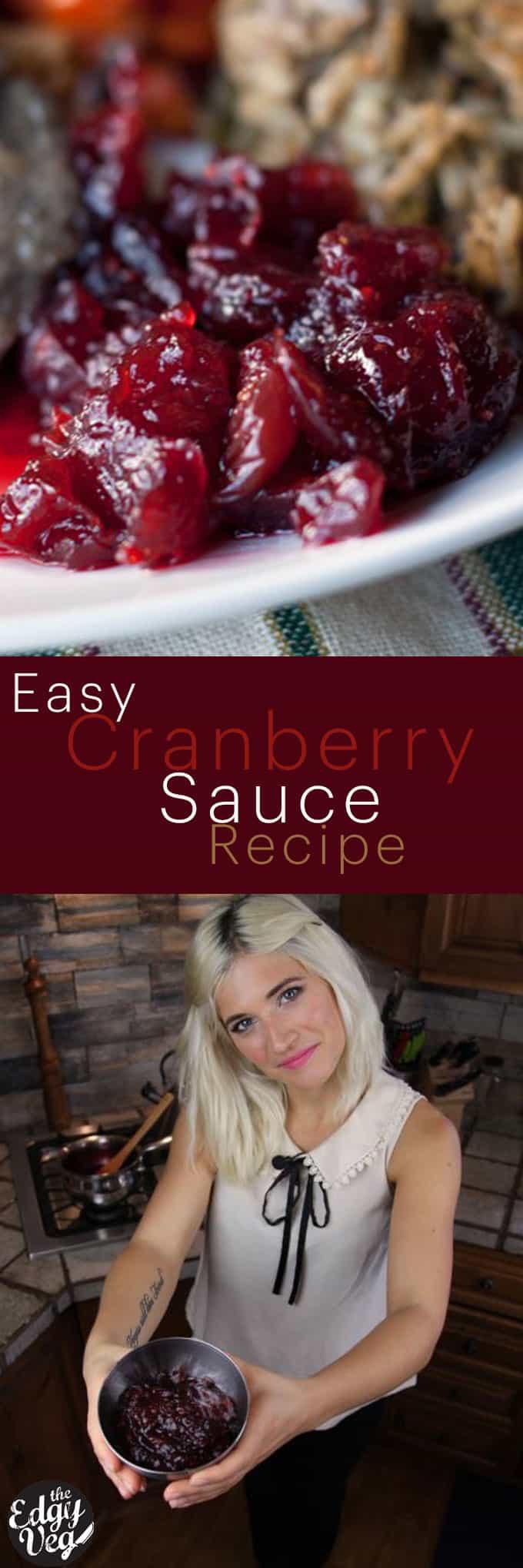 Vegan Cranberry Sauce