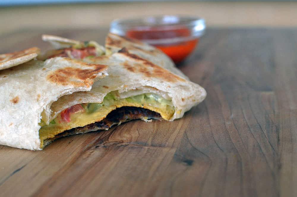 Vegetarian crunch wrap recipe