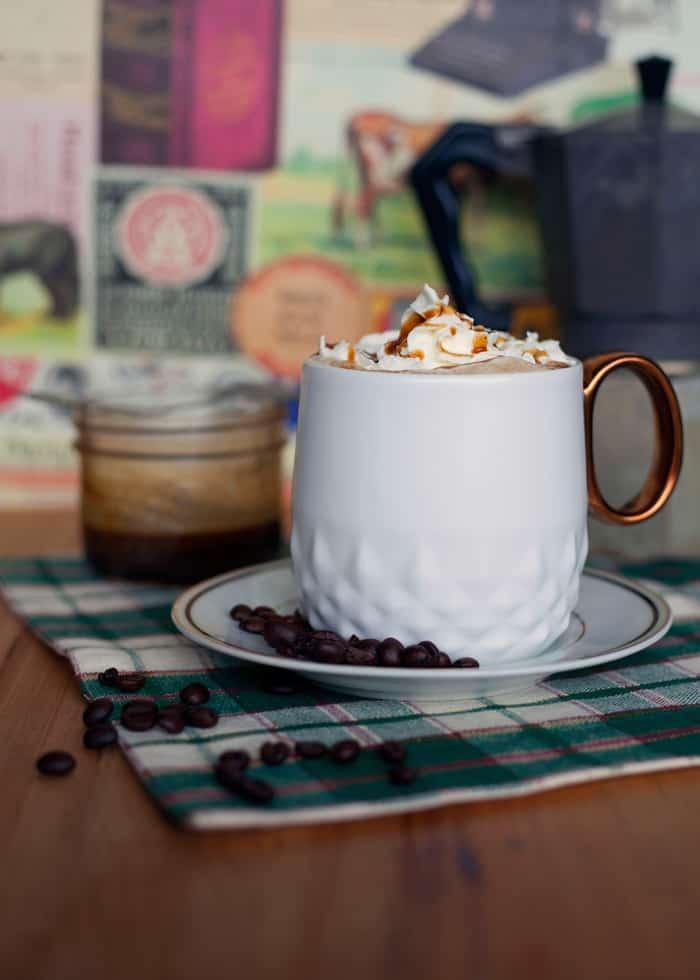 Caramel brulee latte recipe