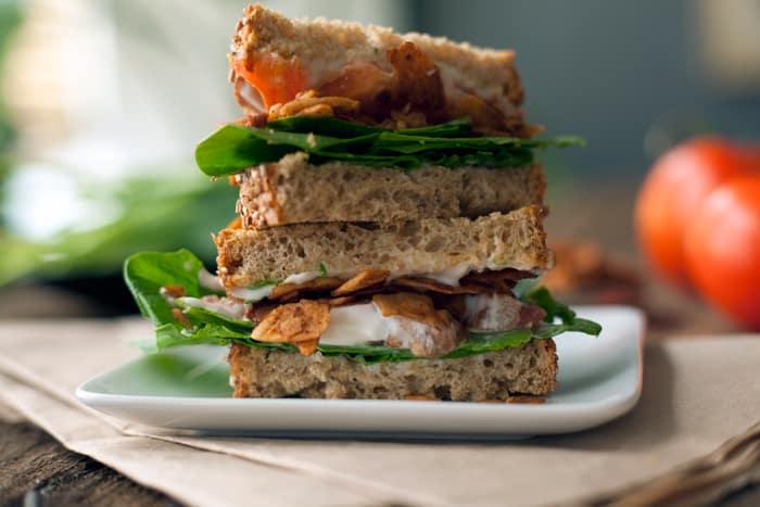 Vegan BLT sandwich recipe