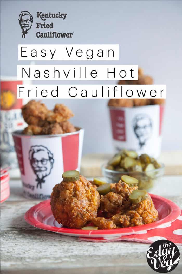 KFC Nashville Hot Fried Chicken Recipe using Cauliflower | Vegan Recipe