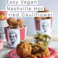 KFC Nashville Hot Fried Chicken Recipe using Cauliflower | Vegan Recipe