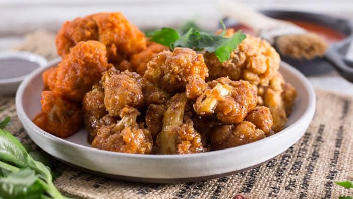 maple garlic wings Buffalo CAULIFLOWER WINGS   Vegan Ranch Dip   VEGAN