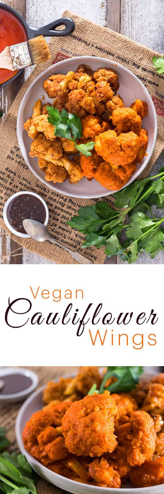Buffalo CAULIFLOWER WINGS   Vegan Ranch Dip   VEGAN