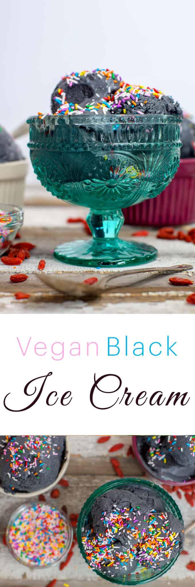 Easy Vegan Pineapple Coconut Ice Cream Recipe | Black Ice Cream | The Edgy Veg
