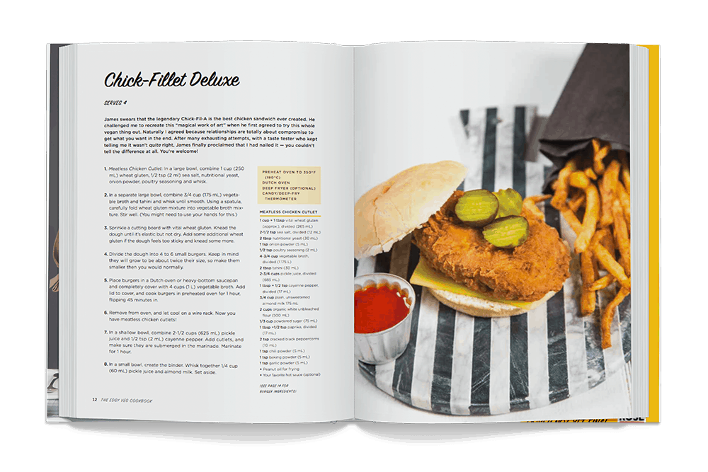 Edgy Veg Cookbook Interior Chick Fillet