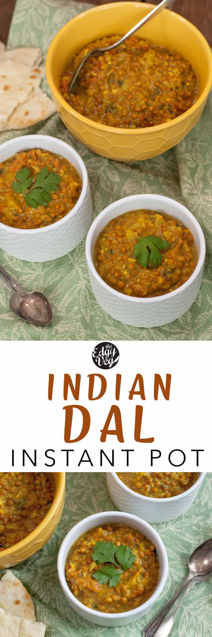 Instant pot Indian Dal vegan