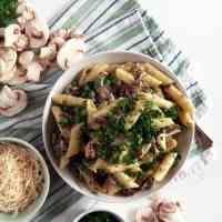 Creamy Mushroom Pasta | Vegan Pasta Recipe