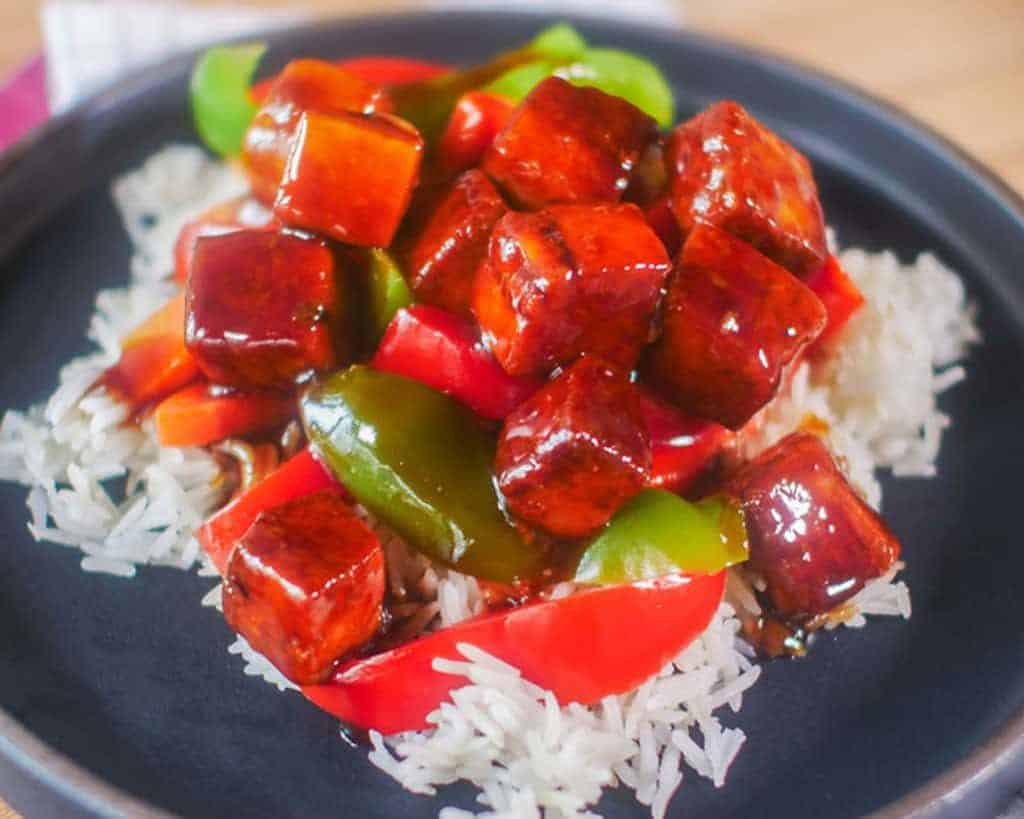 Sweet and Sour Tofu Vegan Recipe