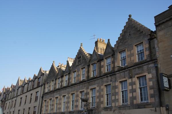 The Edinburgh Reporter Leith roofs blue sky