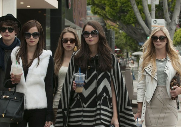 Emma Watson (2nd left) and her Bling Ring cohorts.