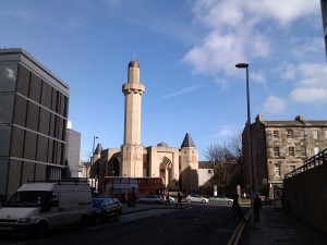 Mosque seen from George Square