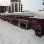 re-union boat in snow
