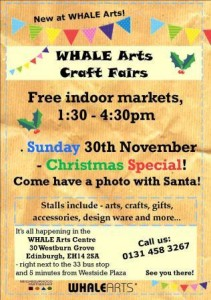 whale christmas craft fair
