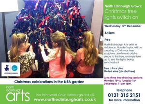 NEA christmas tree lights switch on