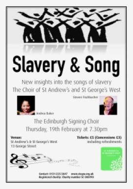 slavery and song concert poster
