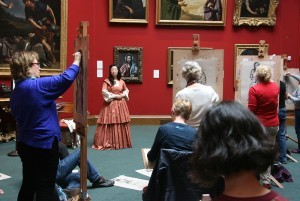 easel sketching in the gallery - portrait gallery