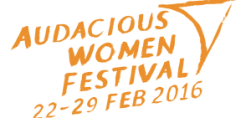 audacious women festival banner