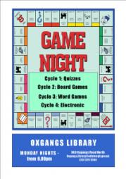 game night at oxgangs library