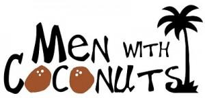 men with coconuts logo