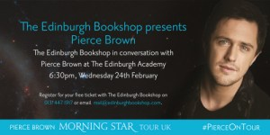 pierce brown - edinburgh bookshop event